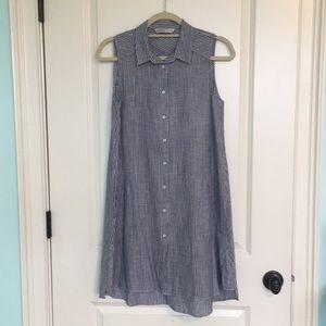 Zara basic denim dress